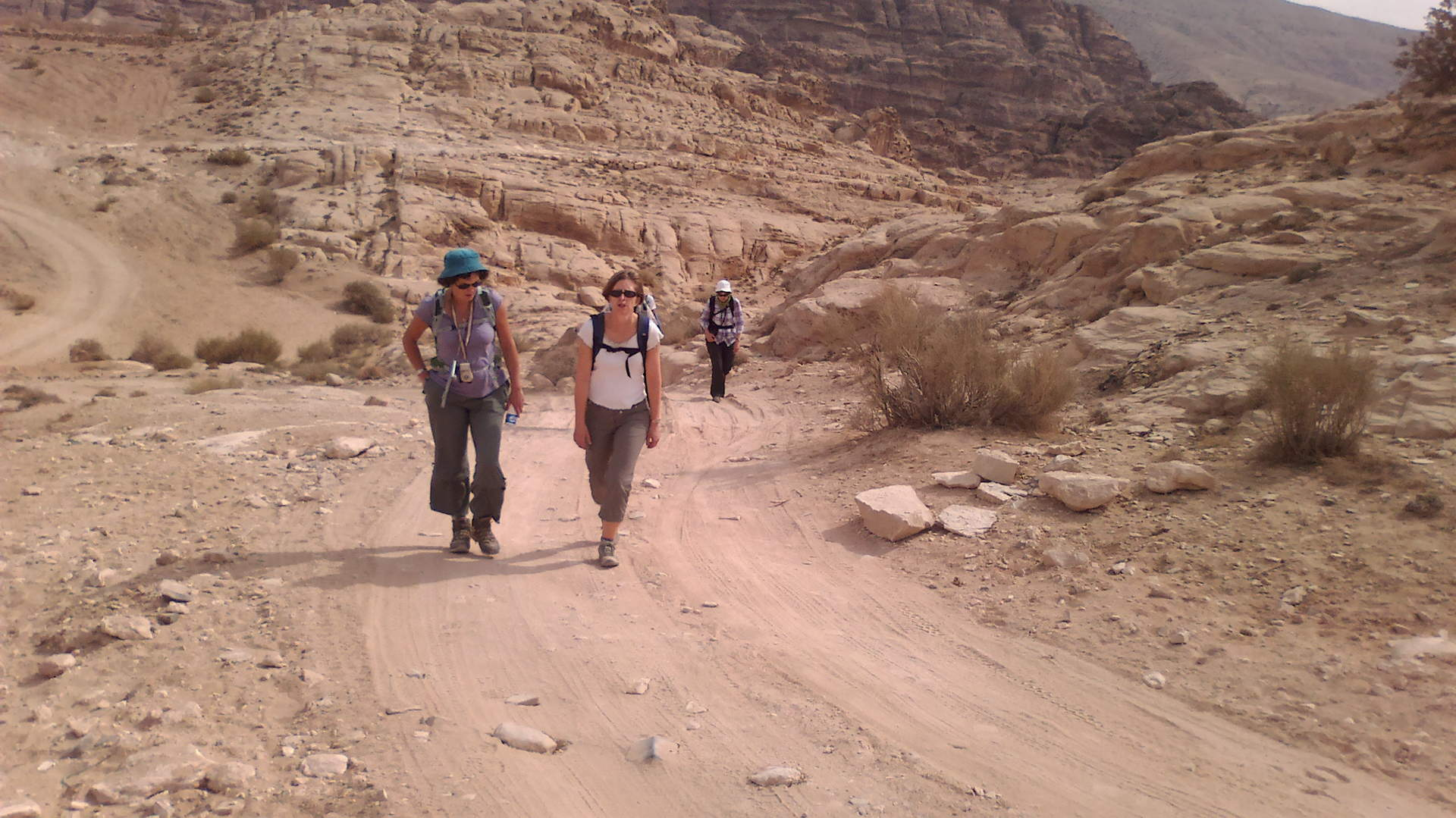 Hiking Petra Back Trail
