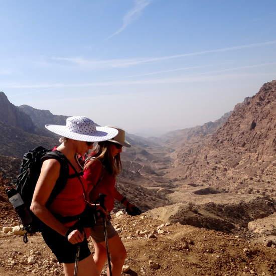On a trekking holiday in Jordan