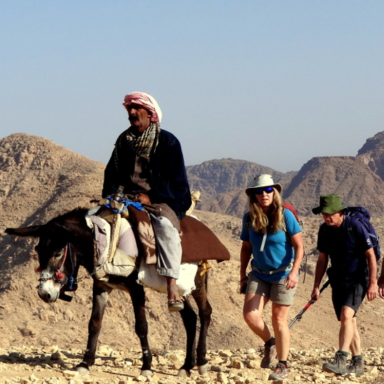 On a trekking holiday in Jordan